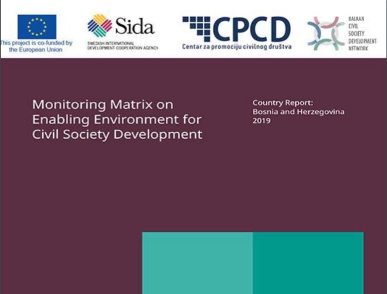Izvještaj o poticajnom okruženju za razvoj civilnog društva u BiH za 2019. godinu